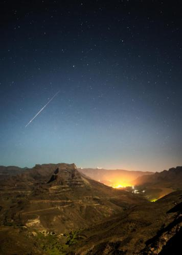 Meteor über dem Valley