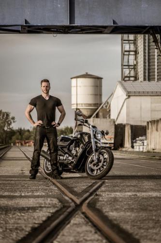 Tobias und seine Harley